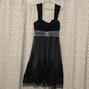 B. Wear Too - black and grey cocktail/formal dress